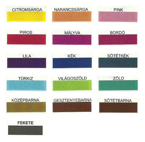 Sirály Textilfesték színskála